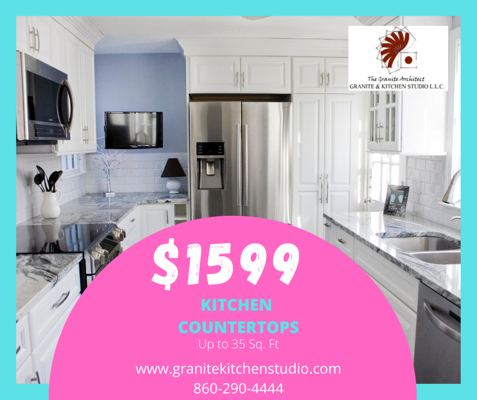 $1599 kitchen countertops, up to 35 square feet. Call 860-290-4444